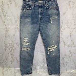 GRLFRND Karolina High-Rise Skinny Jeans in Ringo
